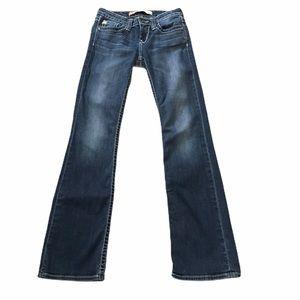 "Big Star ""aren't"" low rise boot cut jeans. Sz 25R"